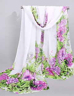 Women's Fashion Chiffon Rectangle Casual Print Spring Summer Fall Scarfs 160*50CM