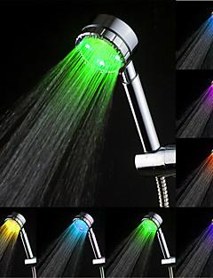 Contemporâneo Ducha de Mão Cromado Característica for  Efeito Chuva Amiga-do-Ambiente LED , Lavar a cabeça