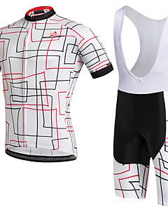 חולצת ג'רסי ומכנס קצר ביב לרכיבה יוניסקס שרוול קצר אופניים נושם ייבוש מהיר עמיד לאבק לביש דחיסה כיס אחורי נמתח תומך זיעה מדים בסטיםטרילן