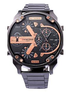 גברים שעוני ספורט שעונים צבאיים שעוני שמלה שעוני אופנה שעון יד שעון צמיד ייחודי Creative צפה שעונים יום יומיים קווארץלוח שנה שלושה אזורי