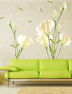 Botanisch Romantik Blumen Wand-Sticker Flugzeug-Wand Sticker Dekorative Wand Sticker,Vinyl Stoff Haus Dekoration Wandtattoo
