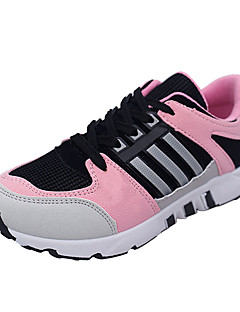 Kényelmes-Lapos-Női cipő-Sportcipők-Alkalmi-PU-Zöld Rózsaszín Piros