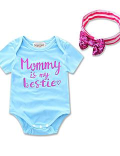 Vauva Painettu Yksiosaiset Party Bile Rento/arki Puuvilla Polyesteri Kesä Lyhythihainen