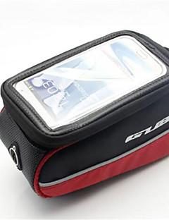 Cyklistická taškaMobilní telefon Bag Brašna na rám Dotyková obrazovka Taška na kolo PVC 600D Polyester Taška na kolo Cyklistika