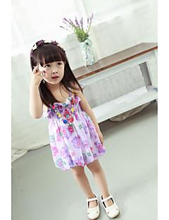 שמלה אקריליק קיץ ללא שרוולים יום יומי\קז'ואל פרחוני הילדה של