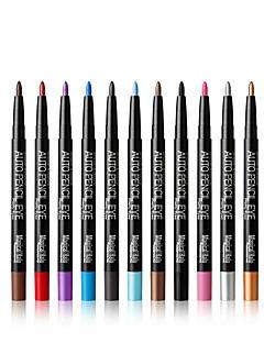 12pcs / set multicolor eyeliner automático lápis de sombra preto de longa duração