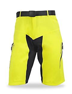 Nuckily מכנס קצר לרכיבה לגברים אופניים מכנסיים קצרים רחבים מכנסי שלושה רבעיםייבוש מהיר עיצוב אנטומי לביש נושם רך רצועות מחזירי אור נוח