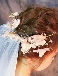 הינומות חתונה שתי שכבות צעיפי סומק צעיפי מרפק צעיפי אצבע חיתוך קצה טול תחרה