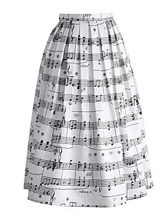 Women's High Rise Casual/Daily Maxi Skirts,Street chic A Line Print All Seasons