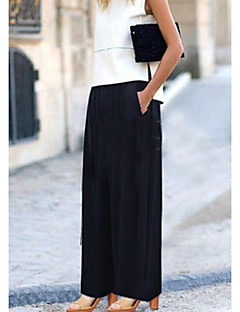 Women's Mid Rise Stretchy Chinos Pants,Boho Street chic Wide Leg Solid