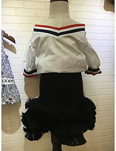 Mädchen Sets Einheitliche Farbe Baumwolle Sommer Ärmellos Kleidungs Set