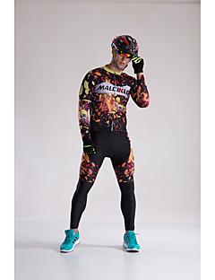 Cyklodres a čapáky se šlemi Pánské Dlouhé rukávy Jezdit na kole Kompresní oblečení Cyklistické kalhotyRychleschnoucí Přední zip Nositelný