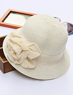 Women's Polyester Straw Bucket Hat Sun Hat,Cute Casual Spring Summer