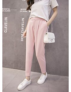 Real shot Korean chiffon pants feet harem pants female pantyhose loose thin Slim pants suit