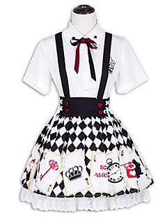 Инвентарь Сладкое детство Лолита Косплей Платья Лолиты Мода С короткими рукавами Короткие / Мини Для