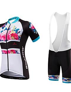 Camisa com Bermuda Bretelle Mulheres Unisexo Manga Curta Moto Calções Bibes Pulôver Camisa/Roupas Para Esporte Shorts Acolchoados Design