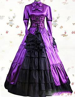 Jednoczęściowy/Sukienki Gothic Lolita Lolita Cosplay Sukienki Lolita Postarzane Rozszerzany Długi rękaw Do podłogi Sukienka Dla Inny