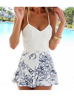 Women's Casual/Daily Rompers,Dresses A Line Floral Summer