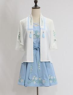תלבושות Wa Lolita בהשפעת וינטאג' Cosplay שמלות לוליטה וינטאג' שרוולים קצרים קצר / מיני ל