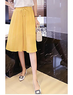 Women's High Rise Going out Mini Skirts Pencil Solid Spring Summer
