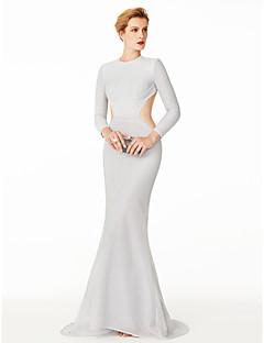 בתולת ים \ חצוצרה עם תכשיטים שובל סוויפ \ בראש סריג רומי ערב רישמי שמלה עם קפלים על ידי TS Couture®