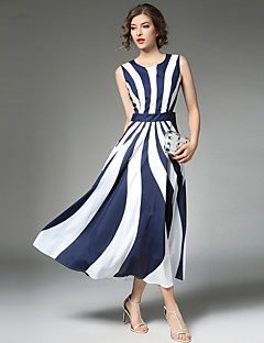 Maxlindy Women's Going out Casual/Daily Party Vintage Street chic Sophisticated A Line Maxi Dress