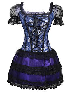 여성 코르셋 드레스 코르셋 세트 잠옷,섹시 Kontor/företag 자카드