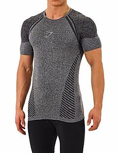 Homens Camiseta Correr Interior Secagem Rápida Permeável á Humidade Vestível Verão