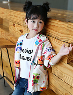 Girls' Animal Rainbow Trench Coat