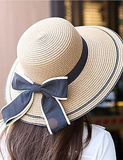 Women's Summer Wide Brim Bowknot Foldable Sun Hats