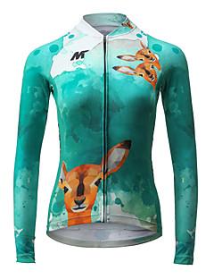 Camisa para Ciclismo Mulheres Manga Longa Moto Camisa/Roupas Para Esporte Secagem Rápida Respirável Poliéster Moderno Primavera Verão