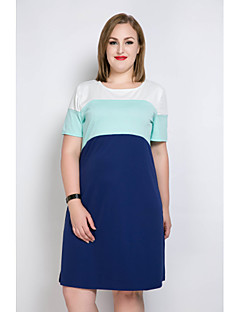 e6221ff842d8 Γυναικείο Καθημερινά Γιορτή Μεγάλα Μεγέθη Σέξι Απλό Χαριτωμένο Σε γραμμή Α  T Shirt Τουνίκ Φόρεμα