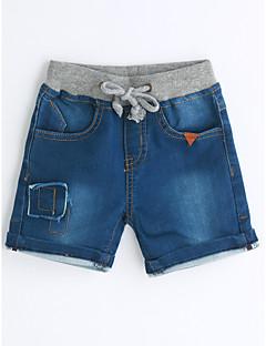 Drenge Jeans Helfarve Ensfarvet-Bomuld Sommer