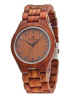 Homens Relógio Madeira Japanês Quartzo de madeira Madeira Banda Luxuoso Elegantes Marrom