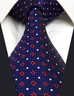 CXL24 New Fashion Handmade Men Neckties Extra Long 63 Blue Red Dots 100% Silk Business Casual