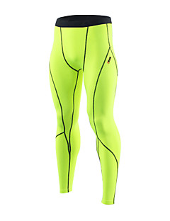 לגברים ריצה טייץ רכיבה על אופניים ייבוש מהיר עיצוב אנטומי דחיסה רצועות מחזירי אור רך תחושה מוחזקת אביב סתיו חורףכושר גופני מירוץ כדורסל