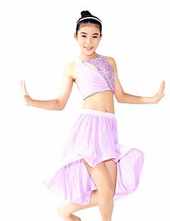 Žene / Dječji-Outfits- zaModerni plesovi(Lila,Spandex / Polyester / Šljokičasti,Upoprijeko / Zamotan / Paillettes / Šljokice)