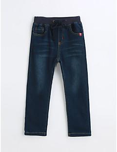 Gutt Jeans Ensfarget Bomull Vår Høst