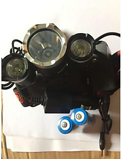 Verlichting Hoofdlampen Fietsverlichting LED 5000 Lumens 4.0 Modus Cree XM-L T6 18650 Waterdicht Oplaadbaar Schokbestendig