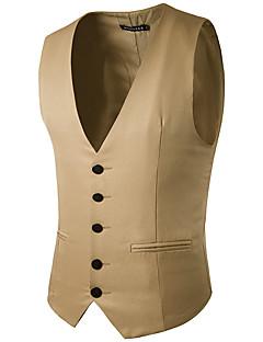 Mænds mode ren farve single-ereasted gentleman suit vest