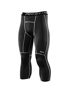 Arsuxeo Herre Tights til jogging Fitness, Løping & Yoga Fukt Wicking Tredimensjonell Skredder Myk 3/4 Tights til Yoga & Danse Sko Fotball