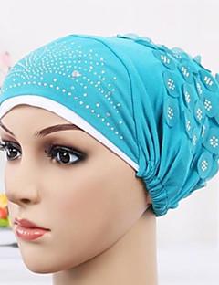 כובע עם שוליים רחבים טלאים ציפוי פלסטי בד קיץ/אביב קיץ כובע פרח נשים פרחוני צבע מעורב