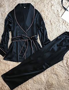 Dame Kjoler Sateng og silke Dress Nattøy,Solid Retro