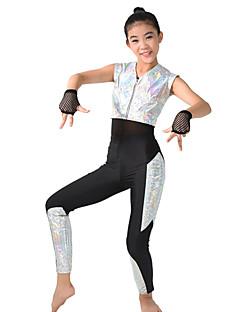 Performanssi Trikoot Naisten Lasten Suoritus Elastaani Polyesteri 5 osainen Hihaton Lyhyt hiha Korkea Trikoot Toppi Housut Käsineet