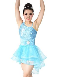 Μπαλέτο Φορέματα Γυναικεία Παιδικά Επίδοση Σπαντέξ Πολυεστέρας Με Πούλιες Σούρες 2 Κομμάτια Αμάνικο Φυσικό Φόρεμα Αξεσουάρ Κεφαλής