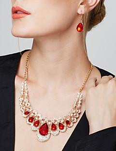 Mulheres Conjunto de Jóias Brincos Compridos Colares Declaração Brinco Colares Statement Moda Europeu Elegant Jóias de Luxo bijuterias