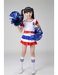 Amigo Kostümleri Kıyafetler Çocukların Performans Polyester Kemer 2 Parça Kısa Kol Yüksek Üstler Şort