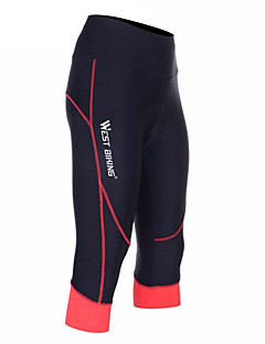West biking Biciklističke kratke hlače s jastučićima Žene Bicikl 3/4 Hulahopke Kratke hlače Podstavljene kratke hlače DonjiProzračnost
