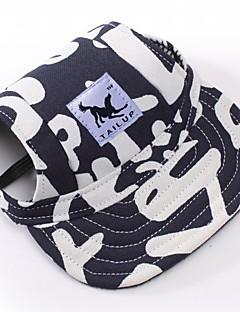 ネコ 犬 バンダナ/帽子 犬用ウェア 花/植物 ストライプ レッド-ホワイト 白 / 青 ホワイト/ピンク ヒョウ柄