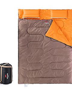 Спальный мешок Прямоугольный Двуспальный комплект (Ш 200 x Д 200 см) 5 Пористый хлопокX145 Походы Сохраняет тепло Компактность